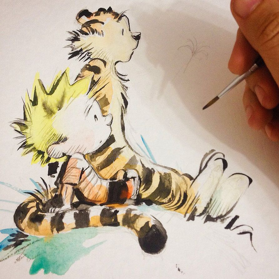 calvin and hobbes artwork for sale
