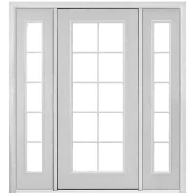 Masonite Prehung Right Hand Inswing 10 Lite Primed Steel Patio Door