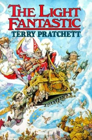 The Light Fantastic (1986)  (The second book in the Discworld series)  A novel by Terry Pratchett