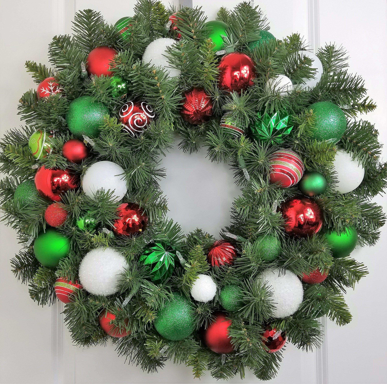 Pre Lit Wreath Christmas Door Decoration Outdoor Xmas