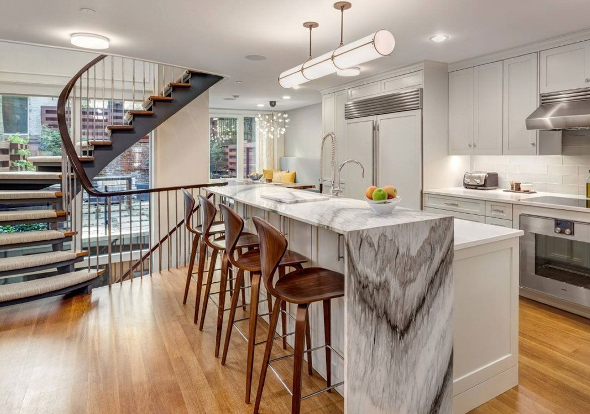 50 Wonderful Waterfall Edge Countertops #waterfallcountertop