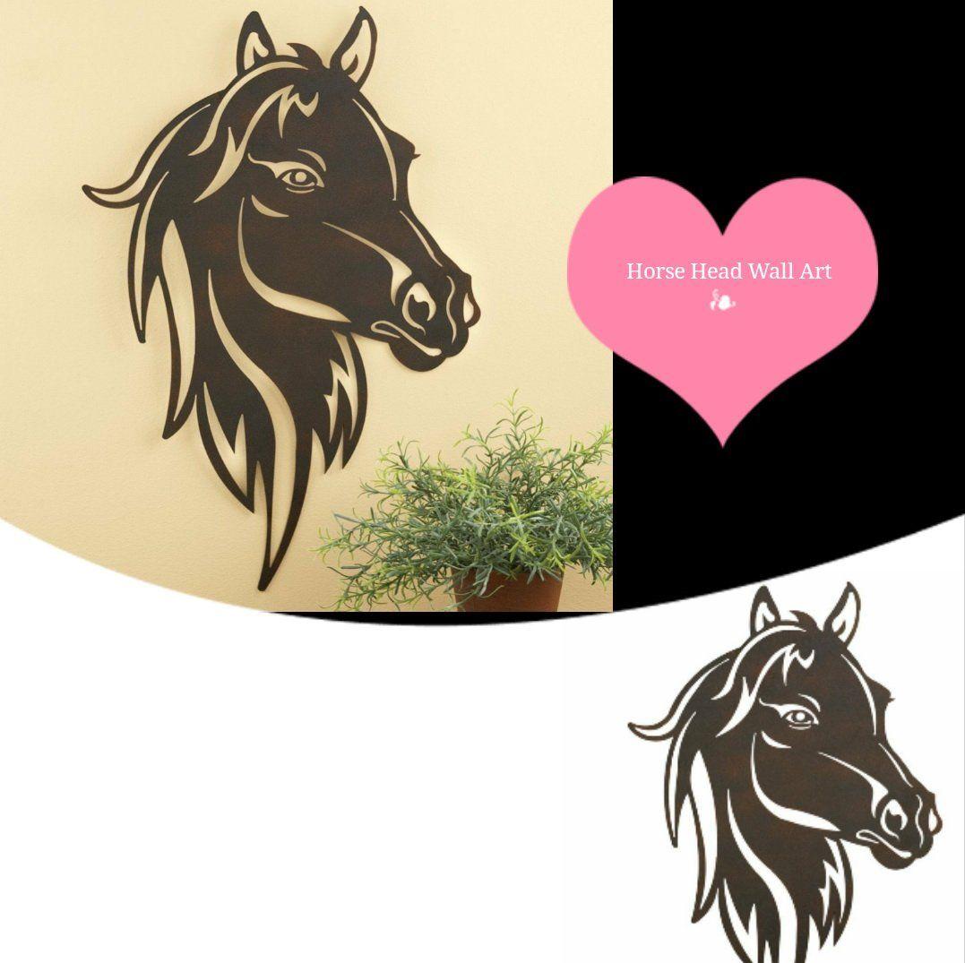 Horse Head Wall Art Western Horse Accent Decorative Piece Iron ...