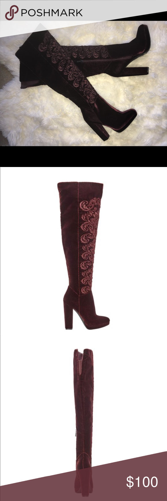 83ccde2d8ee 🔥BNWT Jessica Simpson Grizella Velvet Boot🔥 Upgrade your chic ...