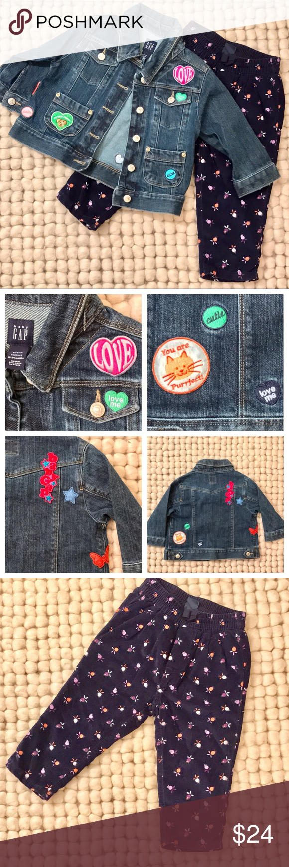Selling this Baby GAP Jean Jacket and Cords Sz. 18-24mon on Poshmark! My username is: onlyonpoint. #shopmycloset #poshmark #fashion #shopping #style #forsale #GAP #Other
