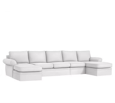 Pearce Roll Arm 4 Piece Double Chaise Sectional Slipcover