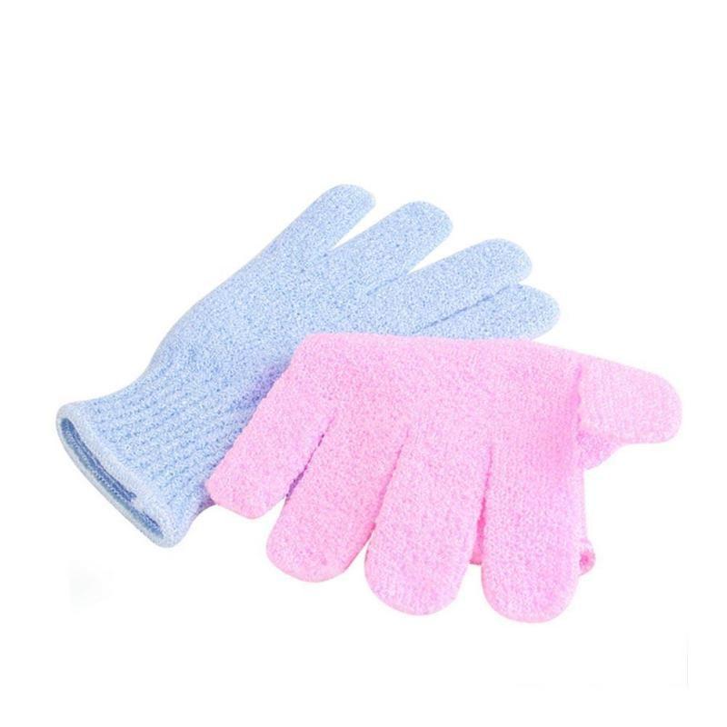 Shower Gloves Exfoliating Wash Skin Spa Bath Gloves Foam Bath Skid ...