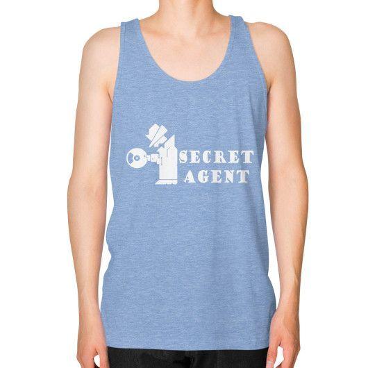 Apparels secret agent Unisex Fine Jersey Tank (on man)