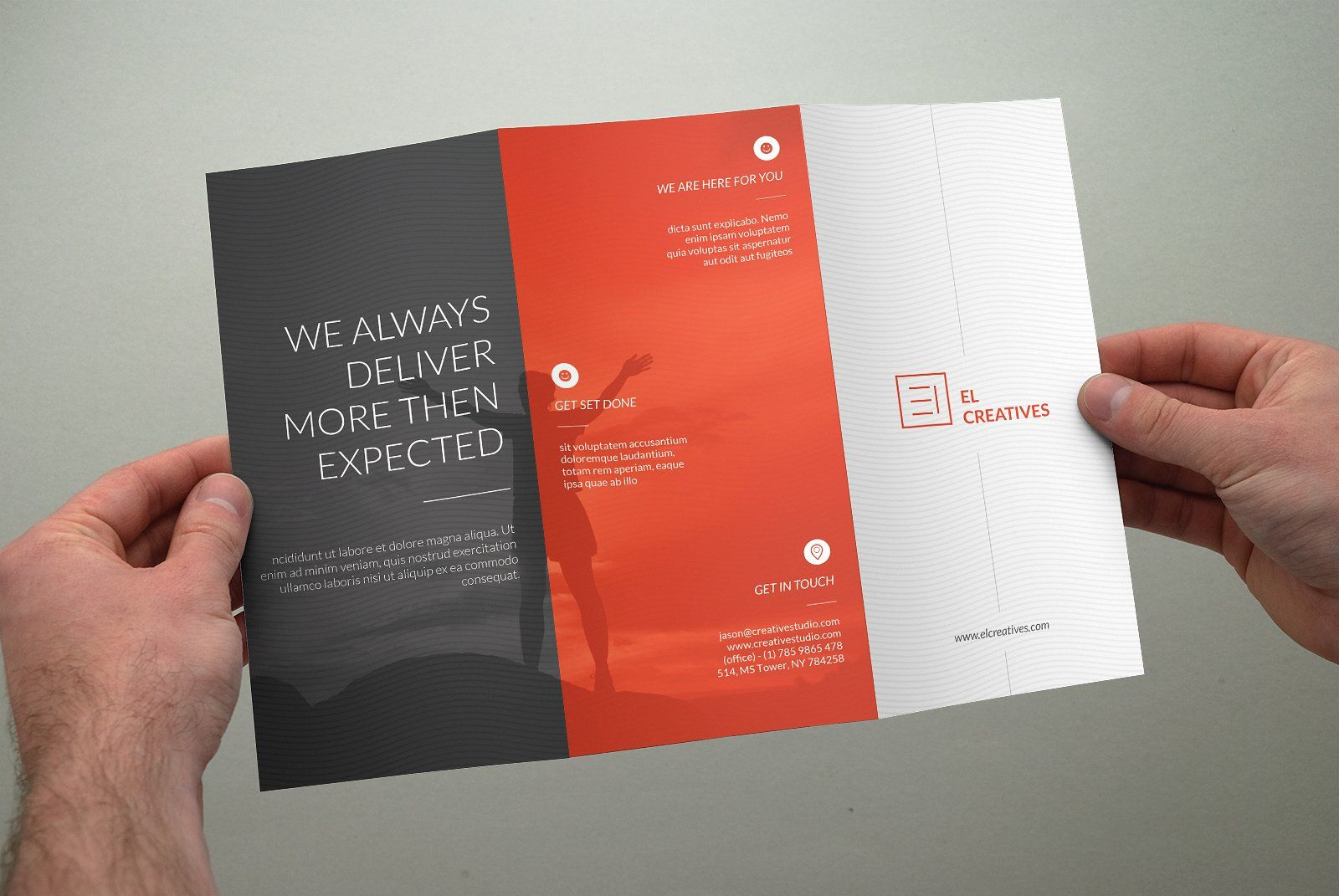 clean multipurpose trifold brochure brochures 2 touch