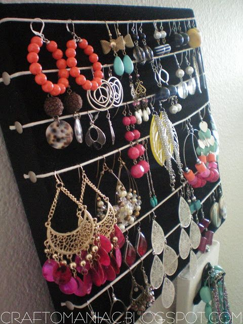 Getting Organized-DIY- Earring & Necklace Holder |