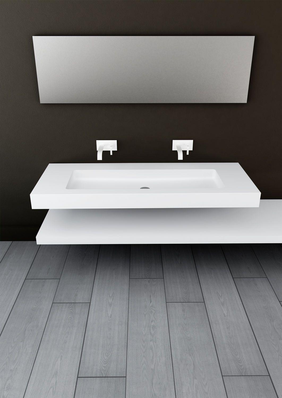 Vasque Suspendue Rectangulaire En Solid Surface - Vasque suspendue salle de bain