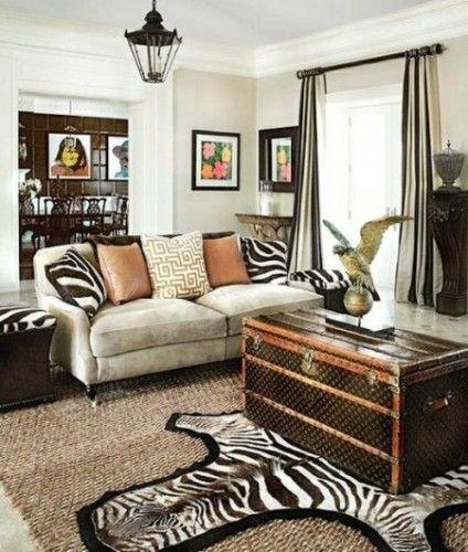 Salas decoradas con estampados de cebra zebra decortribal also deco pinterest rh