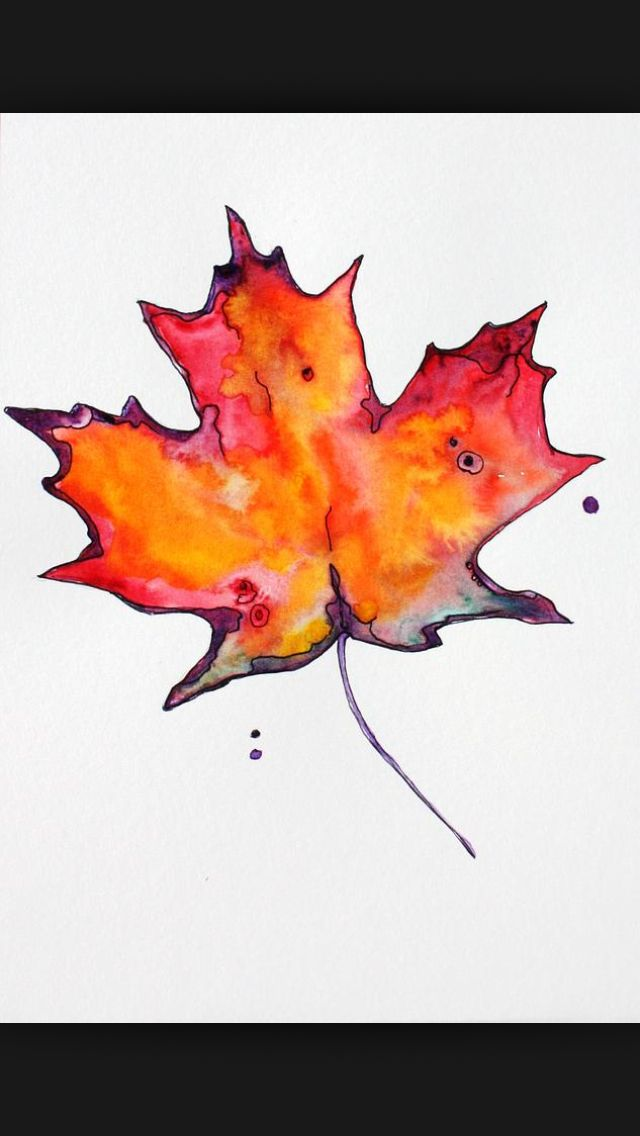 Maple Leaf Water Colour Tattoo I Love This One Maple Leaf Art