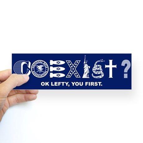 Conservative coexist bumper bumper sticker on cafepress com i must order this