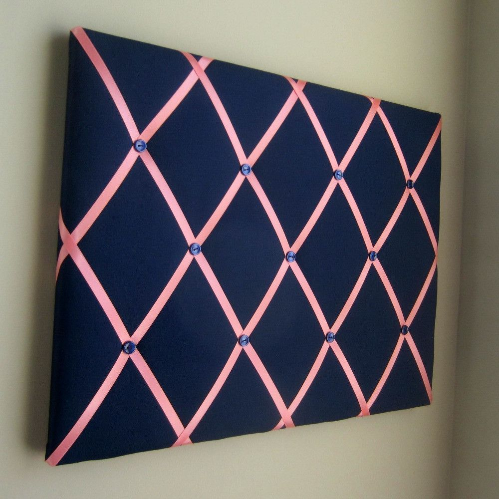 16 X20 Memory Board Or Bow Holder Navy Coral Business Card