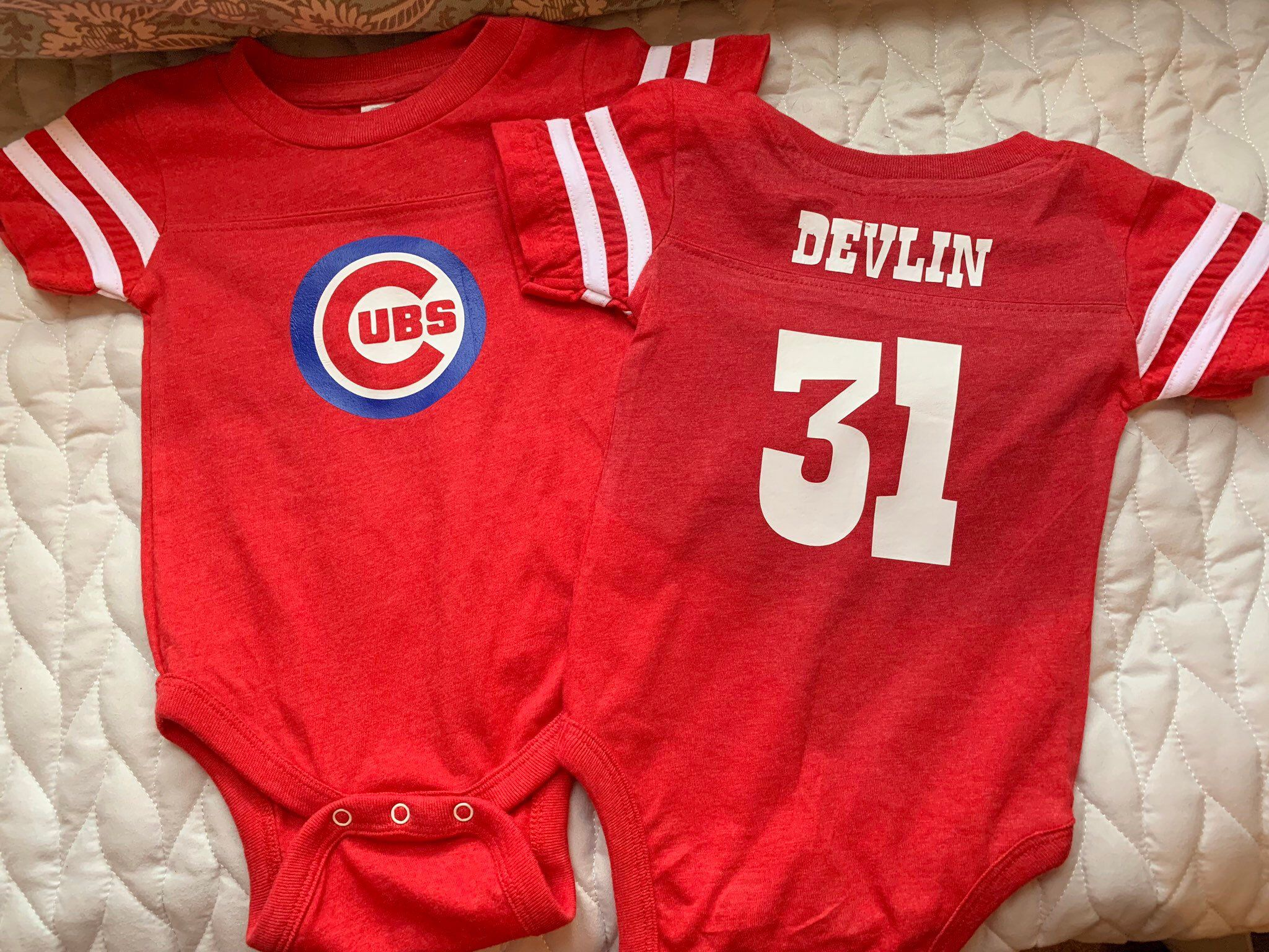 Chicago Cubs Personalized baby Bodysuit