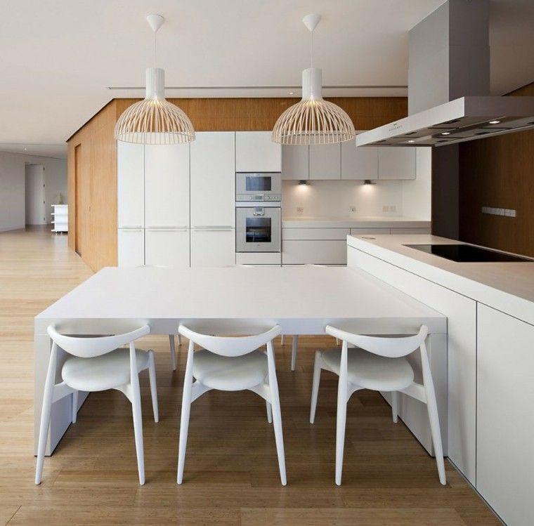 Mesas de cocina modernas, prácticas y funcionales | Mas ...