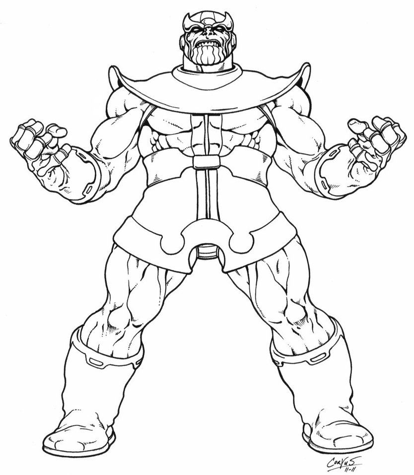Ausmalbilder Thanos zum Ausdrucken  Avengers coloring pages