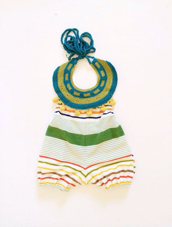 Vintage inspired beach terry cloth romper | The Brass Razoo etsy ...