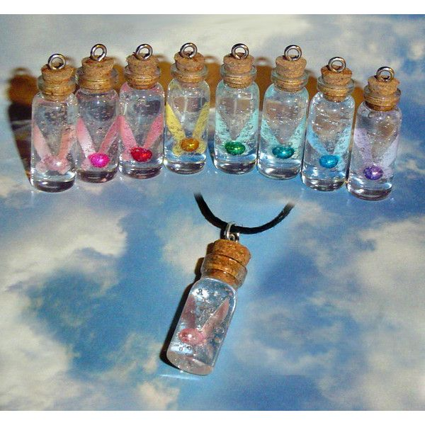 Legend of Zelda - Fairy in a Bottle Charm Necklace ($19) ❤ liked on Polyvore