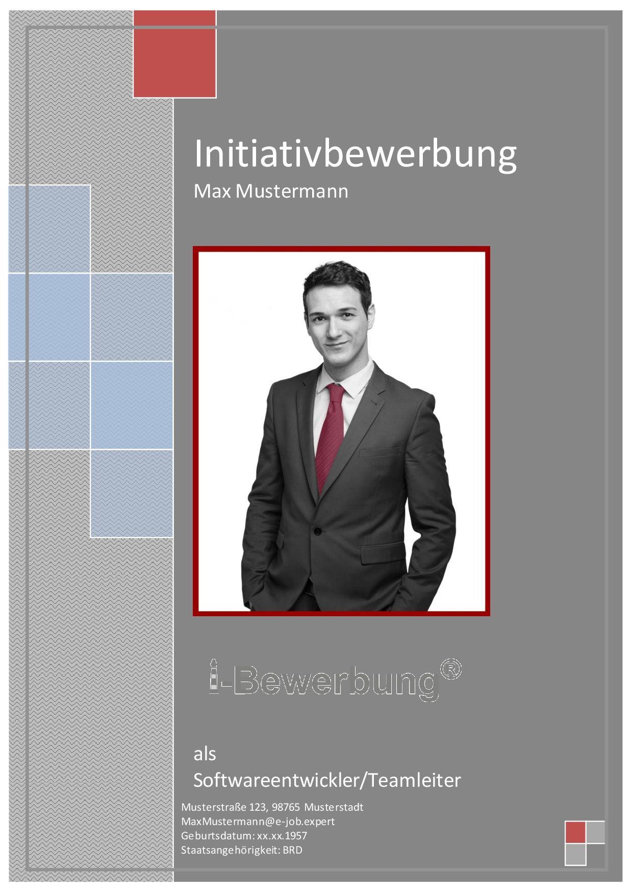 Beispiel Deckblatt Initiativbewerbung Als Software Entwickler