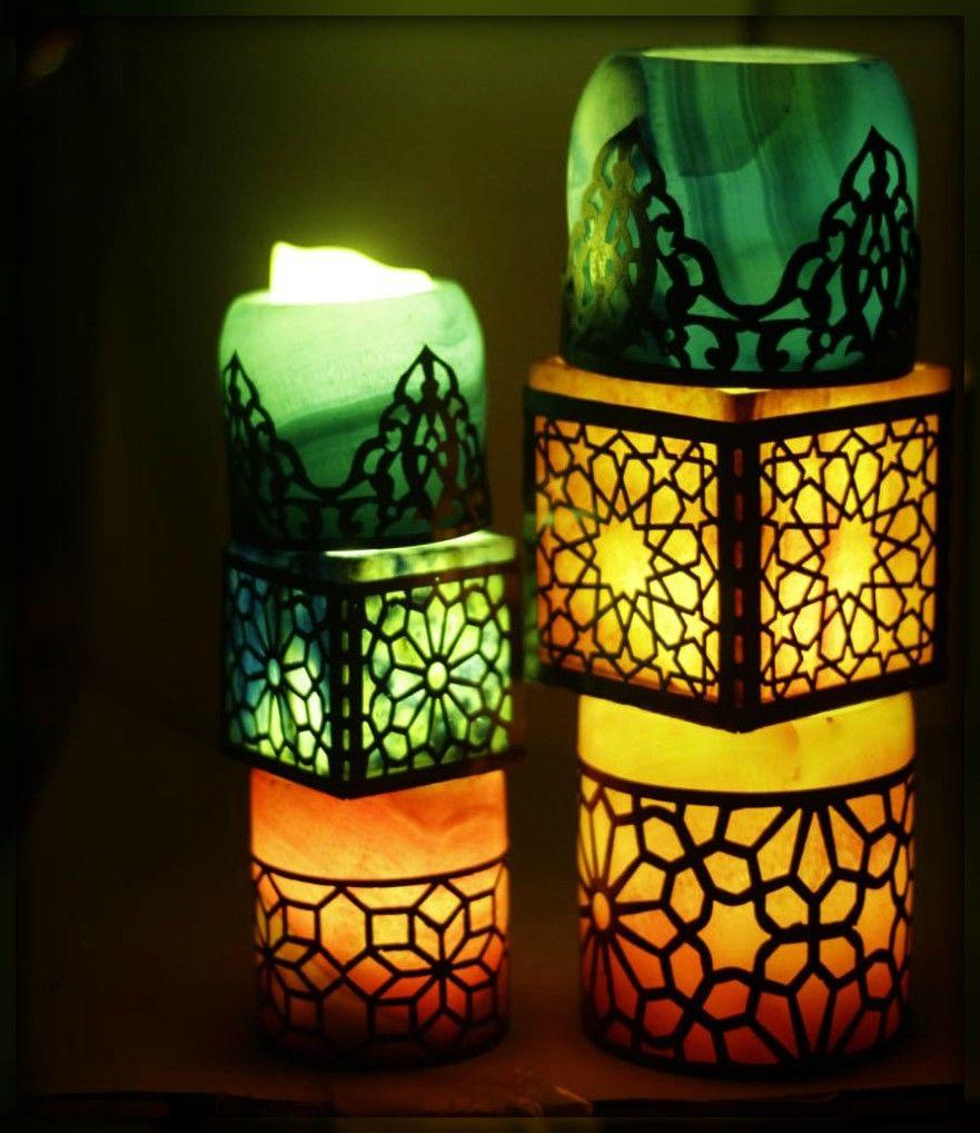 ضيفى لمسة جمال لبيتك و اخلقى جو مريح و رومانسى مع شمعدانات رخام ملون بالنحاس طراز اسلامى هاند ميد مقاسات 10سم 15 سم 20سم Paper Lamp Novelty Lamp Decor