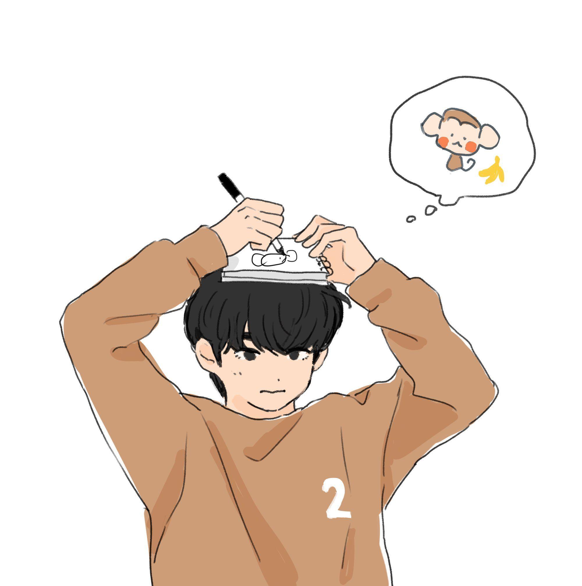 日曜 On Twitter Kpop Fanart Vkook Fanart Cute Drawlings