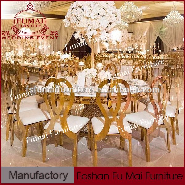 New Wedding Stainless Steel Used Dining Room Furniture For Sale