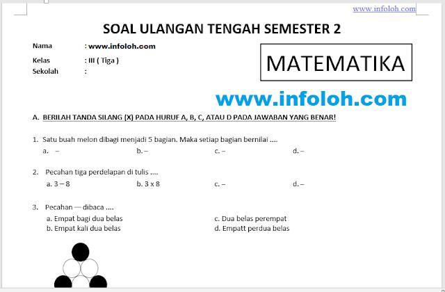 Pin Di Soal Uts Matematika Kelas 3 Sd Semester 2 Genap Kurikulum 2013