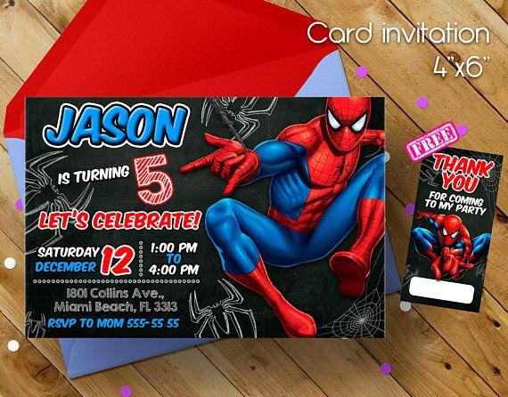 Spiderman Invitation Spiderman Invitacion Del Hombre Araña