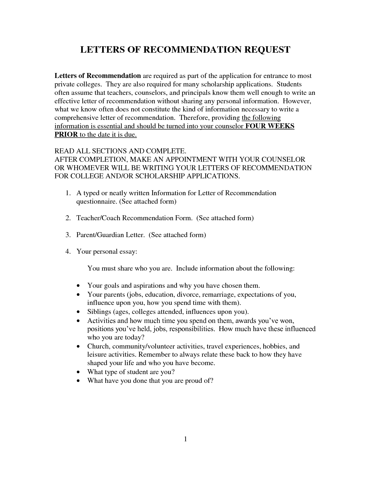 College Recommendation Letter From Parent Example  EczaSolinfCo