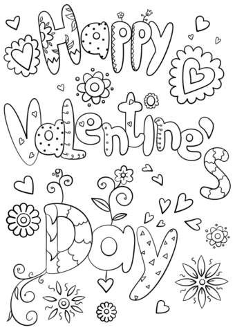 Happy Valentine\'s Day coloring page from St. Valentine\'s Day ...