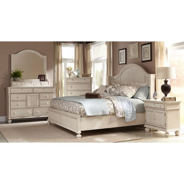 Laguna Antique White Panel Bed 6 Piece Bedroom Set Ping S