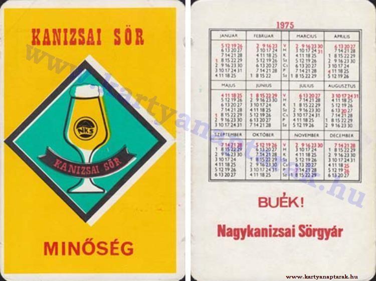 1975 - 1975_0657 - Régi magyar kártyanaptárak
