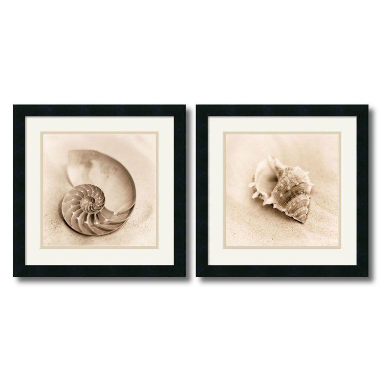 Il Oceano Framed Wall Art - Set of 2 - 17.88W x 17.88H-inch - DSW416297