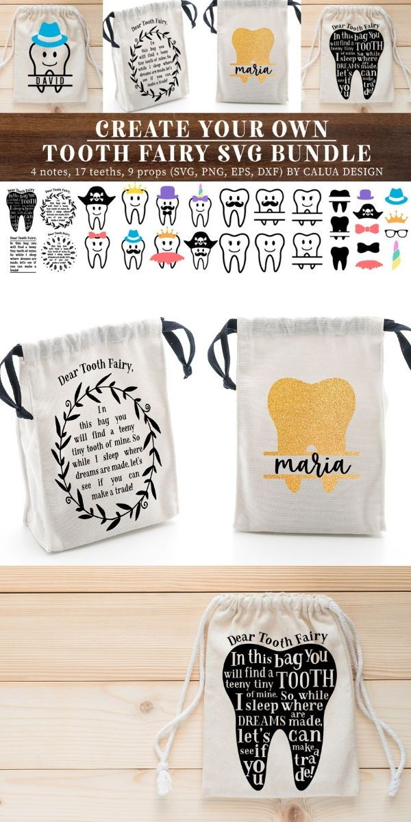 Make Your Own!! Tooth Fairy Cut File Bundle
