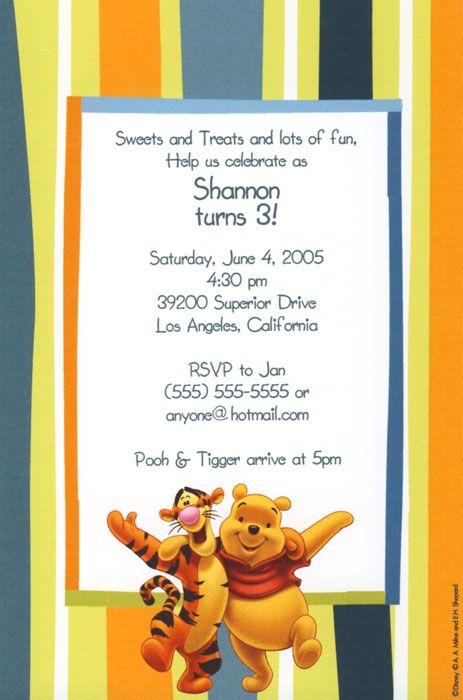Pooh tigger birthday invitation birthday ideas pinterest pooh tigger birthday invitation filmwisefo Gallery