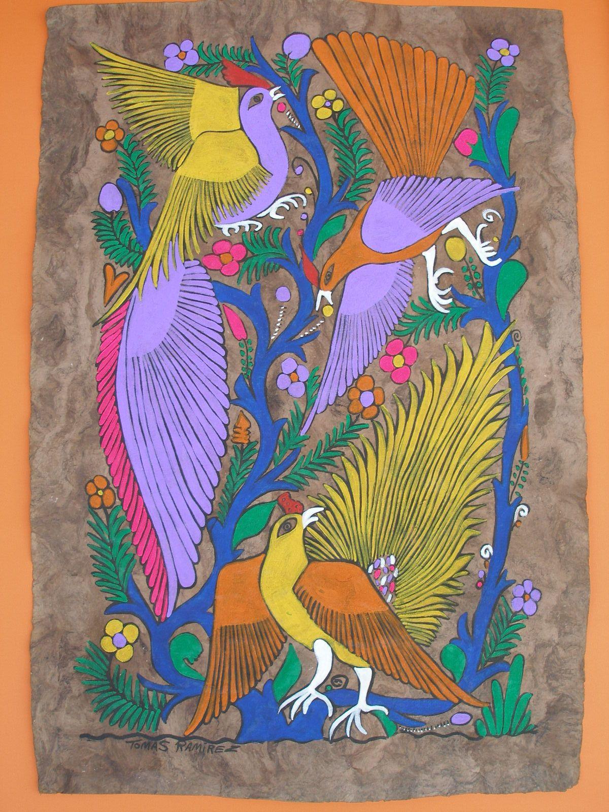 Amate Bark Painting - Mexican Folk Art | Art ~ Indigenous ...