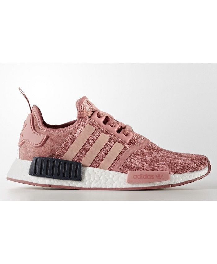 Womens Adidas NMD R1 Raw Pink Trace Pink Legend Ink Shoes Fashion style,  with a