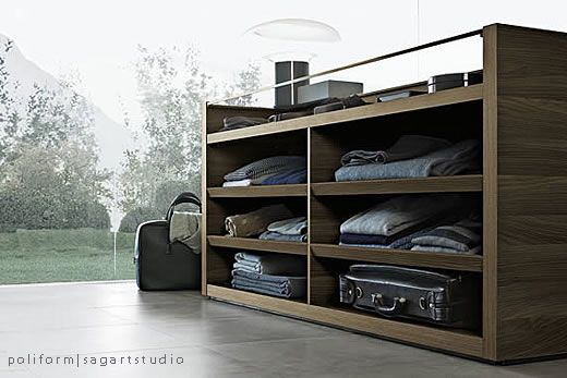 This Sensational Modern Closet Island Is From Poliform Their Closets Features Stunning Crisp