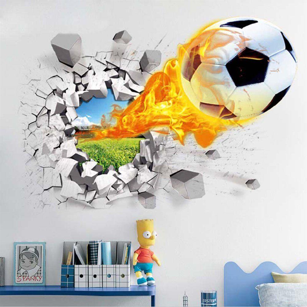Faszinierend Wandtattoo Fußball Das Beste Von ⚽*werbung | Soccer Room | 3d Fußball