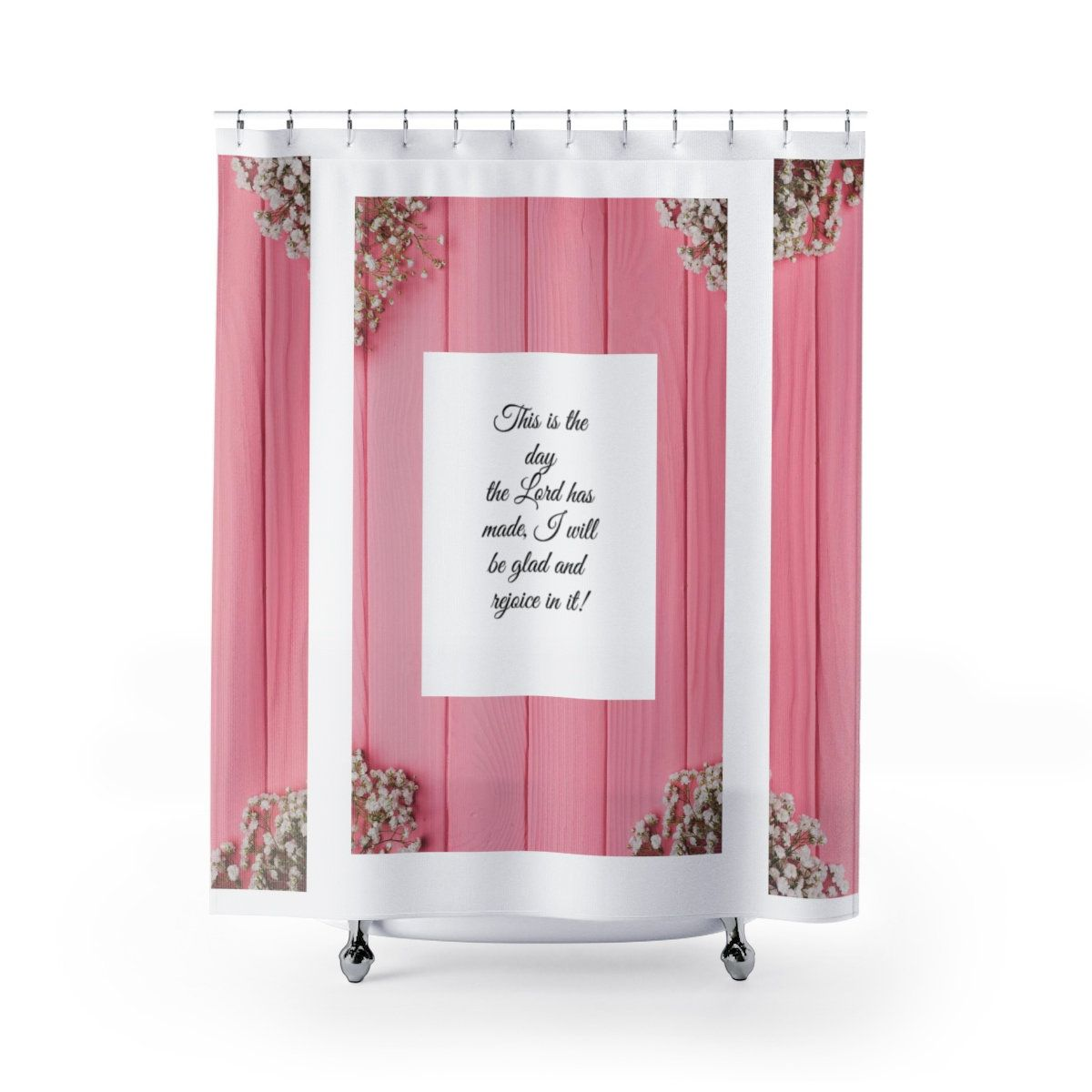 Scripture Shower Curtain Christian Shower Curtain Bible Verse