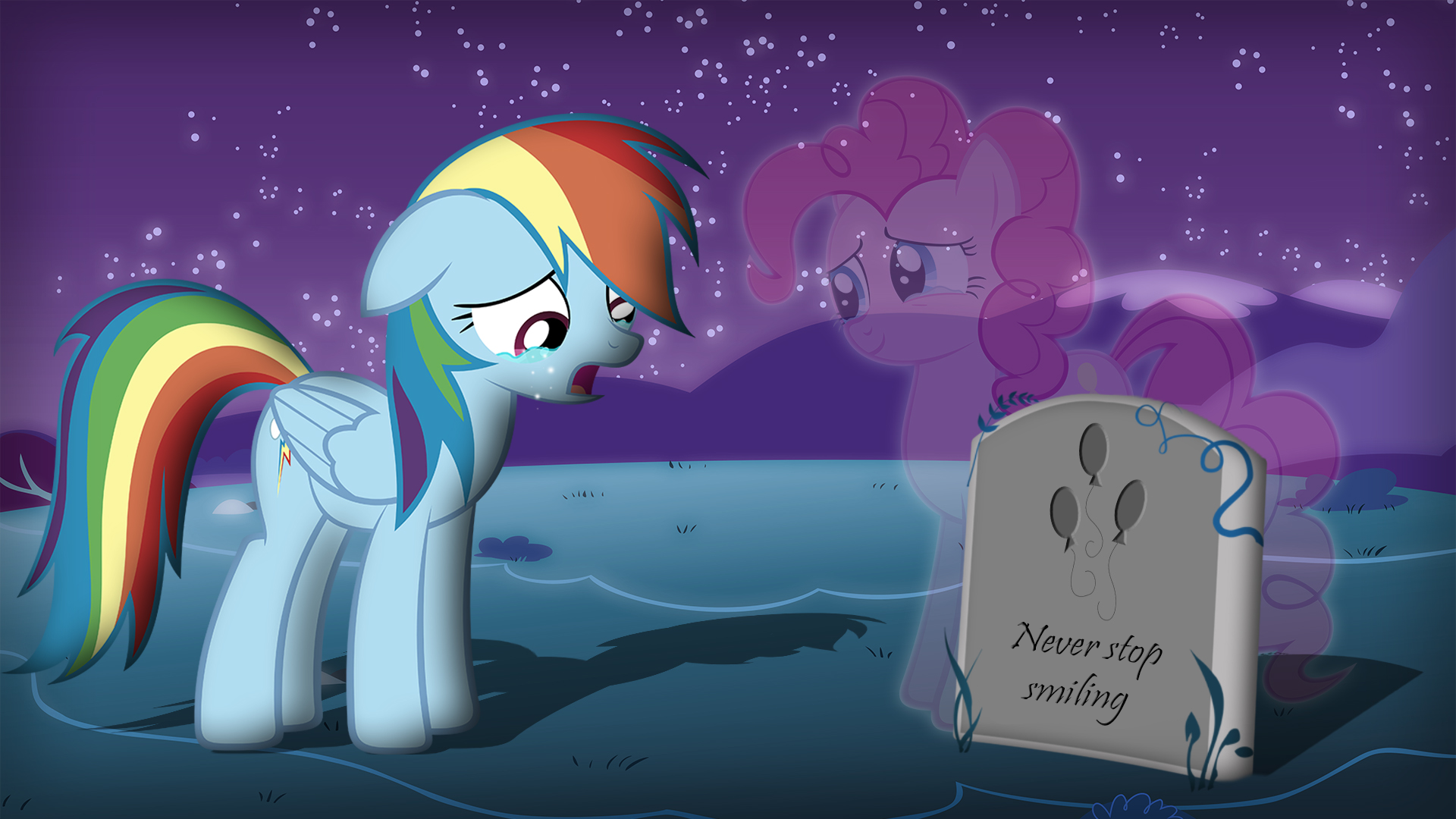 Rainbow Dash Rest In Peace Pinkie Pie Never Stop Smiling My