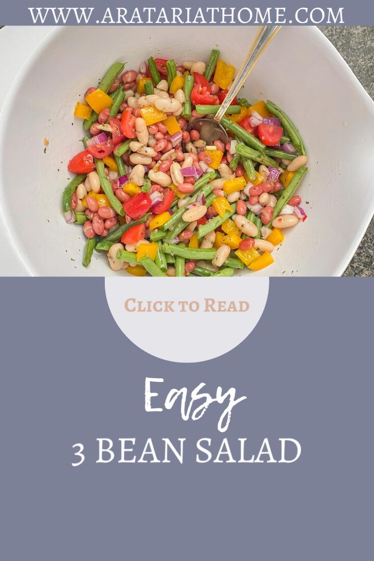 Easy Three Bean Salad Aratari At Home In 2020 Bean Salad Recipes Bean Salad Smoked Food Recipes