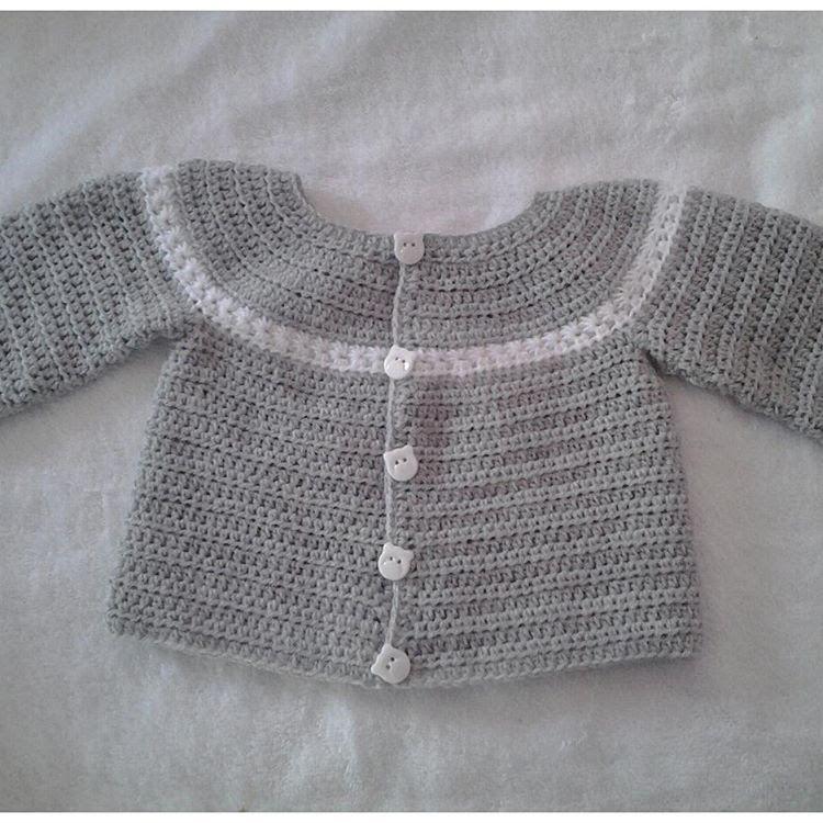 Chaquetita o chambrita a crochet para bebe parte 2 #tutorial #DIY ...