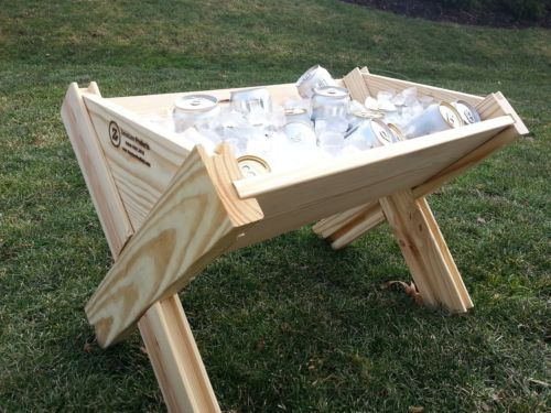 Ice Chest Cooler Beer Drink Livestock Rustic Outdoor Party Event Garden Farm