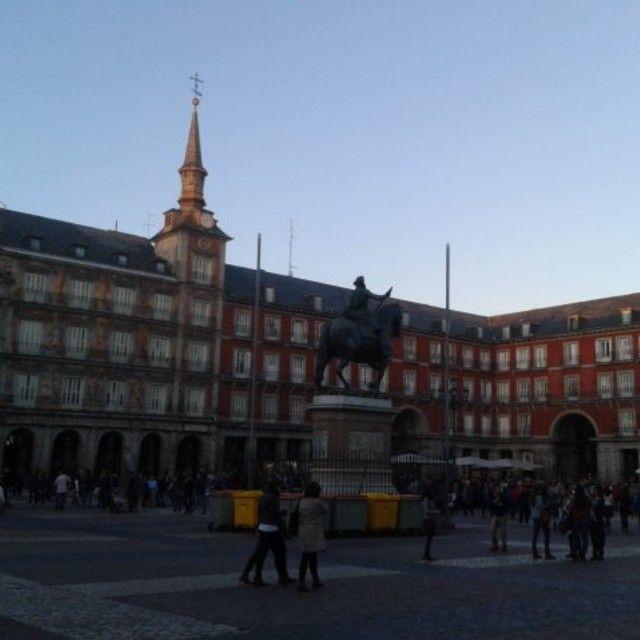 Famosa Plaza Mayor de Madrid.