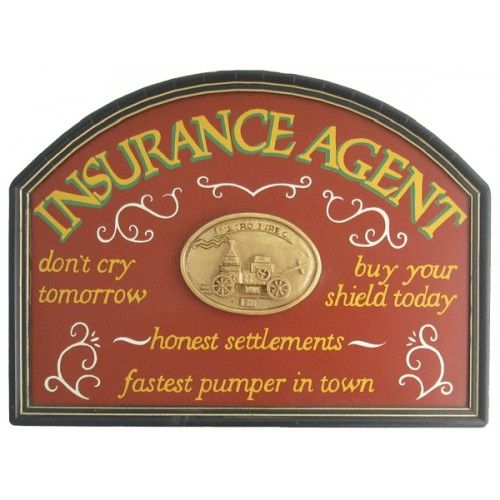 Insurance Agent Wood Sign Vintage Wood Signs Custom Wood Signs