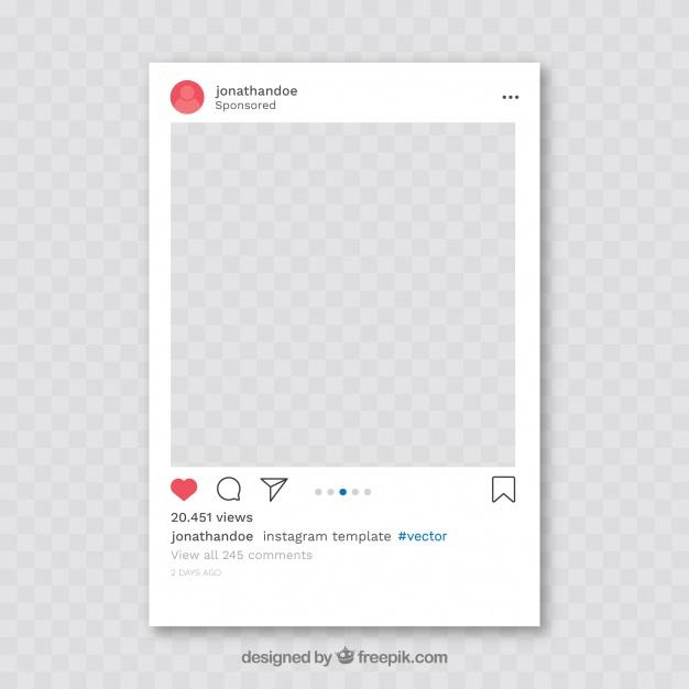 Download Instagram Post With Transparent Background For Free Instagram Mockup Instagram Frame Overlays Instagram