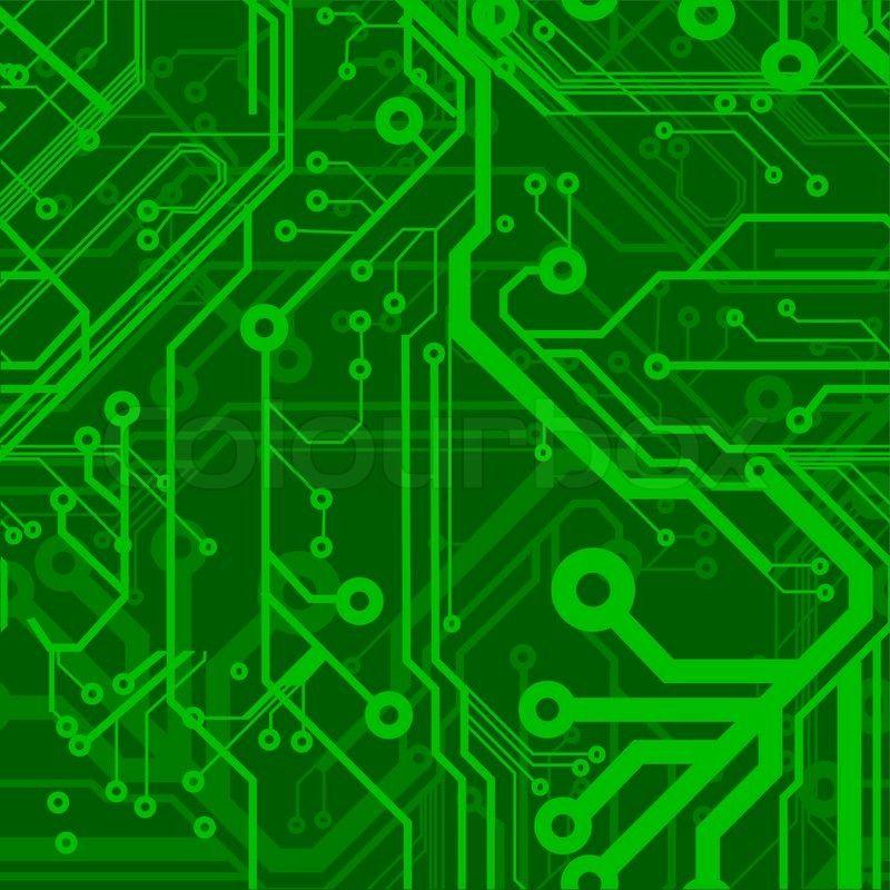 1644768-green-seamless-printed-circuit-board-pattern.jpg (800×800 ...