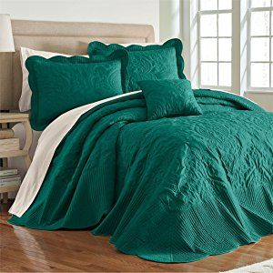Brylanehome Amelia Bedspread Emerald King Bed Spreads Home Boho Living Room